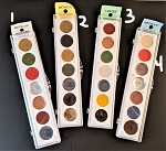 Rub-on Metallic pigment-4 color pallets to choose from
